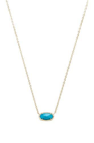 Kendra Scott Elisa Pendant Necklace - Turquoise - Versatile Necklace - 0.63
