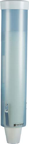 """Dispensador de vaso de agua de tipo jala C3165FBL de tamaño medio, para vasos de cono y fondo plano de 4 a 10 oz, longitud del tubo de 16 """", azul esmerilado"""