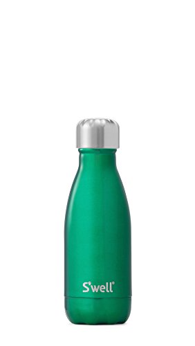 S'well Vacuum Insulated Stainless Steel Water Bottle, 9 oz, Kelly Green
