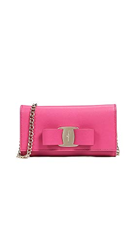 Salvatore Ferragamo Women's Vara Rainbow Mini Bag, Bubble Gum, One ()
