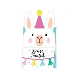 Llama Party Invitations, 8 ct]()