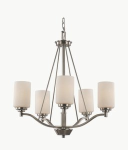 Trans Globe Lighting 70525 BN Indoor  Mod Pod 25″ Chandelier, Brushed Nickel For Sale