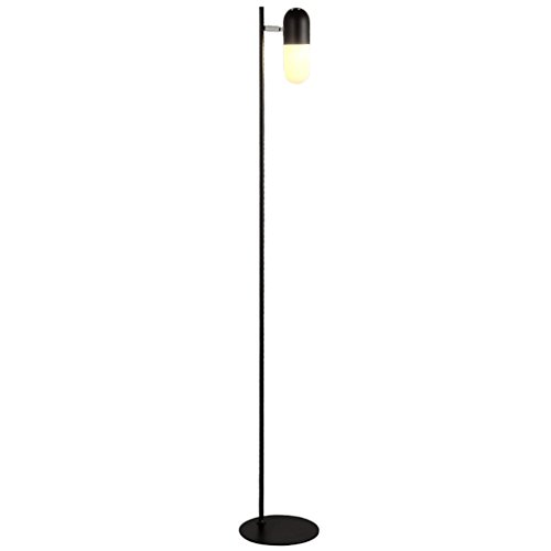 Floor Lamp LED Vertical Learning, Modern Simple Personality Living Room Bedroom Bedside Study (Color : Black)