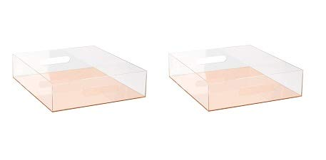 - C.R. Gibson Clear Acrylic Letter Tray, Mirror Panel, Measures 10.5