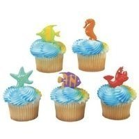 Sealife Friends Cupcake Picks (Fish Cake Toppers)