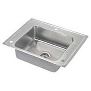 Elkao|#Elkay DRKADQ2822650 18 Gauge Stainless Steel 28 Inch x 22 Inch x 6.5 Inch single Bowl - Top Mount Sink.,