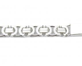 Bracelet Gourmette Homme - Argent massif