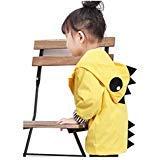 (Birdfly Unisex Kids Animal Raincoat Cute Cartoon Jacket Hooded Zip Up Coat Outwear Baby Fall Winter Clothes School Oufits (12M,)