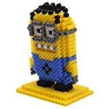 ART:EGO ™ - 3D Minion Fuse Beads Set - Includes 2,000 Bead Activity Kit, Pegboard, Pattern, Ironing Paper - Yellow, Blue
