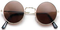 John Lennon Hippie Style Round Dark Brown/ Black - Sunglasses Warehouse Uk