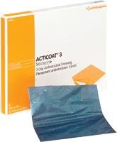 Acticoat Antimicrobial Barrier Burn Dressing With Nanocrystalline Silver 5'' X 5'' (5/Box)