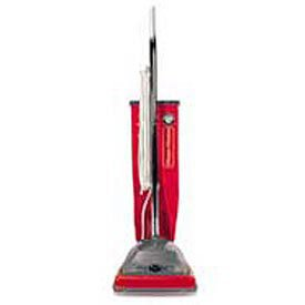 (Sanitaire 9-1/2 Qt. Commercial Upright Vacuum W/Allergen Filtration, Red/Gray)