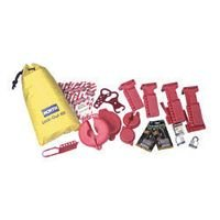 Lockout/Tagout Kit Includes: -1 Nylon Carrying Bag, -2 VS02, -2 VS04, -2 BS01, -2 BS02, -2 3D, -2 1DLJ, -1 MS01, -10 ELA290, -2 666RD by North Safety