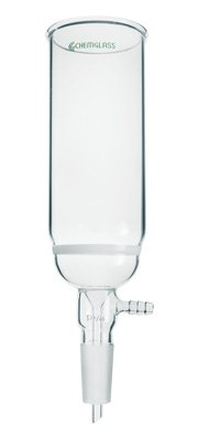 Chemglass CG-1412-36 Series CG-1412 Chromatography Column Quick Separation Funnel, 90 mm Coarse Frit, 305 mm Height, 24/40 Lower Vacuum Assembly by Chemglass