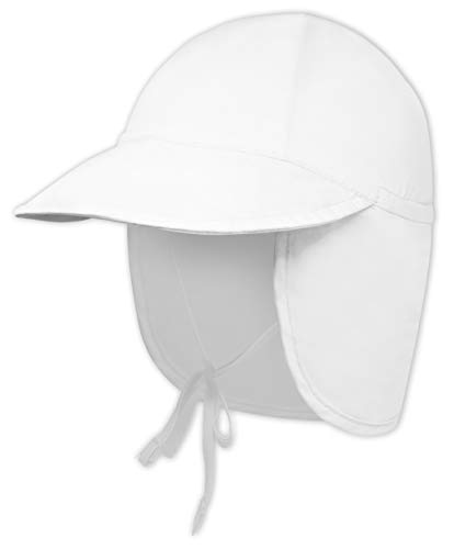Brook + Bay Kids Sun Hat for Boys & Girls - Toddler Beach Bucket Hats with UV Protection - UPF 50 Infant/Baby Flap Swim Cap - Great for Summer Fishing, Safari & Outdoor Play (White, 2-4 Years Old)
