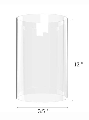 Amayan Cylinder Flameless Candle Sconces Height 12'' Diameter 3.5'' -Perfect for MULTIFARIOUS Wall LAMP SCONCES Tall Cylinder Glass Vase-(Multiple Specifications) by Amayan (Image #5)
