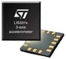 Accelerometers MEMS INERTIAL snsr 3 axis, Pack of 10 (LIS3LV02DLTR)