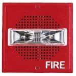 (Wheelock - SA-S70-24MCW-FW - 24 vdc self amplified square speaker/strobe 15/30/75/110 cd, Wall mount, White)