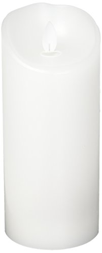 Sterno Home MGT814307WH00 White Wax Pillar with Timer by Sterno Home