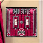 Ohio State Buckeyes Light Switch Cover: Double Glass