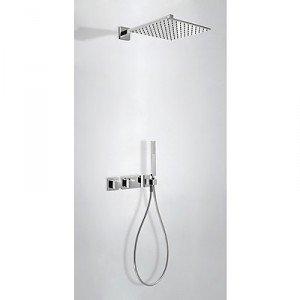 kit de trois 20725201 robinetterie thermostatique encastr douche avec fermeture et r glages de. Black Bedroom Furniture Sets. Home Design Ideas