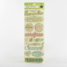 K&Company All Occasion Words Adhesive Chipboard