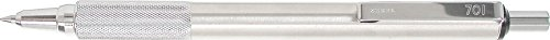 Zebra 29411 F-701 Ballpoint Stainless Steel Retractable Pen, Fine Point, 0.8mm, Black Ink, 1-Count