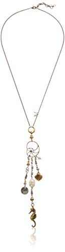 Lucky Brand Women's Sea Life Charm Necklace, Two Tone, One Size