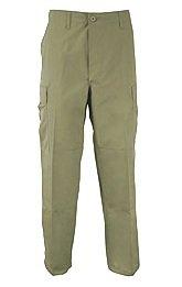 50070 Poly/Cotton Olive Drab (OD) BDU Pants (27-31 WAIST29-32 INSEAMSmall/Regular)