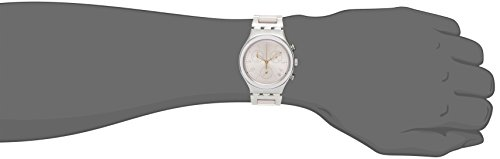 Swatch Womens Analogue Quartz Watch with Stainless Steel Strap YCS588G