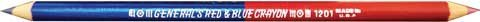 2 in 1 - red and blue pencil for pattern marking and drafting - General's Red and Blue Crayon