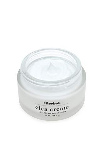 Meebak Cica Face Cream Moisturizer 1.7oz, Anti-Aging, Anti-Wrinkles Natural Day Cream and Night Cream