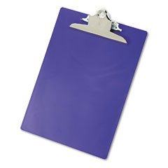 SAUNDERS Recycled Plastic Clipboard, 1'' Capacity, Holds 8 1/2 x 12, Purple (Case of 12)