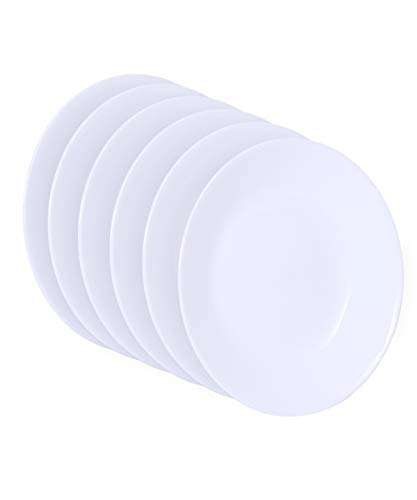 Corelle 1117155, White, Livingware Luncheon Plate, 8-1/2-Inch, Set of 6, 8-1/2 (Corelle Country Cottage Plates)