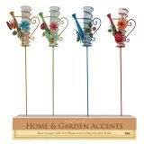 Alpine JFH650A-16 Watering Can Rain Gauge Garden Stake - Assortment Display of 16 by Alpine (Image #1)