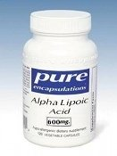 Pure Encapsulations - Alpha Lipoic Acid 600mg 60 VegiCaps