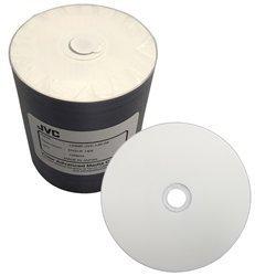 100 JVC Taiyo Yuden 16X DVD-R 4.7GB White Inkjet Hub (J-DMR-JVC-IJB-SK) by Taiyo Yuden