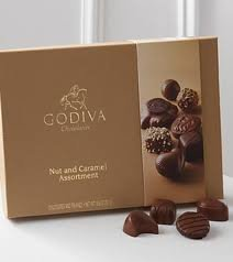 Godiva Large Nuts & Caramel Assortment Gift Box