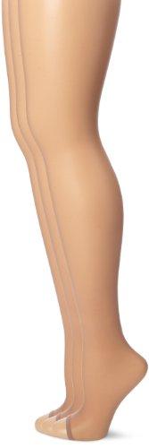 HUE Women's So Sexy Sheer  Toeless Hosiery Tan, Size 2 (Pack of 3) (Hosiery Sexy)