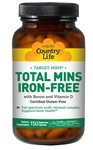 Country Life Target Mins Iron-free Total Mins Multi-mineral