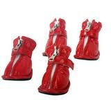 Dogit Dogit Style Rain Boots – Red – Medium, My Pet Supplies