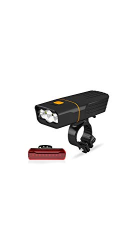 A02 Headlamp - SCRT Bicycle Light Mountain Bike Led Flashlight Night Riding Super Bright Headlights USB Charging Glare Car Headlights Taillights (Color : T6 Lamp and A02 Taillights, Size : 5 Hours)