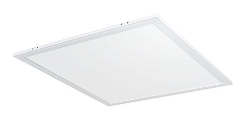 2x2' LED Flat Panel Light: 40W Recessed Drop Ceiling Light - Square | 4000K White EDGE-LIT Lighting | 5260 Lumens | Dimmable & Easy Installation