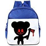 WLF Girl's And Boy's Children Kid's Backpack Pre School Bags Package Fashion Bear Axe Backpacks RoyalBlue (Jansport Big Bear)