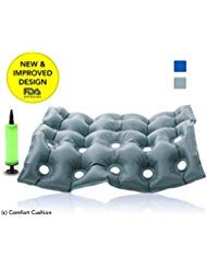 Premium Air Inflatable Seat Cushion - Comfortable Chair Cushion for Wheel Chair - Ideal for Prolonged