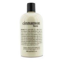 Philosophy Cinnamon Buns - Philosophy Cinnamon Buns Shampoo, Shower Gel and Bubble Bath, 480 ml/16 oz.