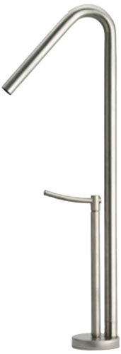 Metrohaus Metrohaus Single Hole - Whitehaus WH81205-POCH Metrohaus 5 3/4-Inch Single Hole Elevated Faucet with 45-Degree Swivel Spout and Lever Handle, Polished Chrome