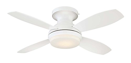 """GE Kinsey 44"""" White LED Indoor Ceiling Fan with"""