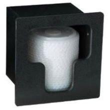 Dispense Rite Built In Lid - Dispense Rite Black Vertical Built-in Lid Organizer, 7 x 7 x 5 1/2 inch - 2 per case.