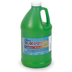 Nasco 9714720(Y) Bulk-Krylic Acrylic Paint, 1/2 gal Jug, Light Green